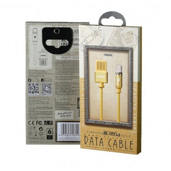 Кабель Remax Gravity series Magnetic cable Type-C Data/Charge 1 m, Gold (RC-095A-GOLD)