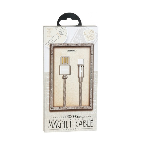 Кабель Remax Gravity series Magnetic cable Type-C Data/Charge 1 m, Tarnish (RC-095A-TARNISH)