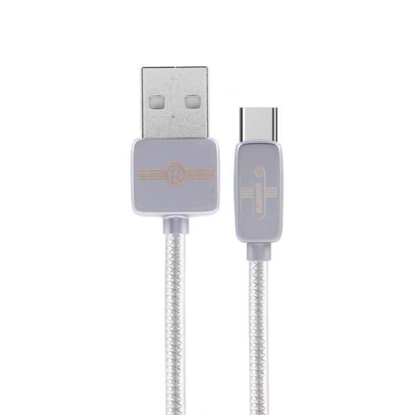 Кабель Remax Regor Data Cable for Type-C, Silver (RC-098A-SILVER)