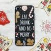 Чехол Upex Christmas Series для iPhone XR Eat and Drink (UP33163)