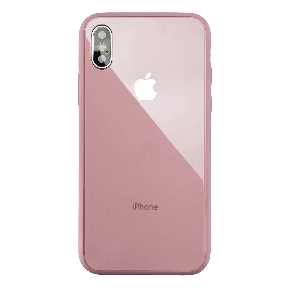 Чехол Upex Matte Glass Case для iPhone XS/X Pink Sand (UP33835)