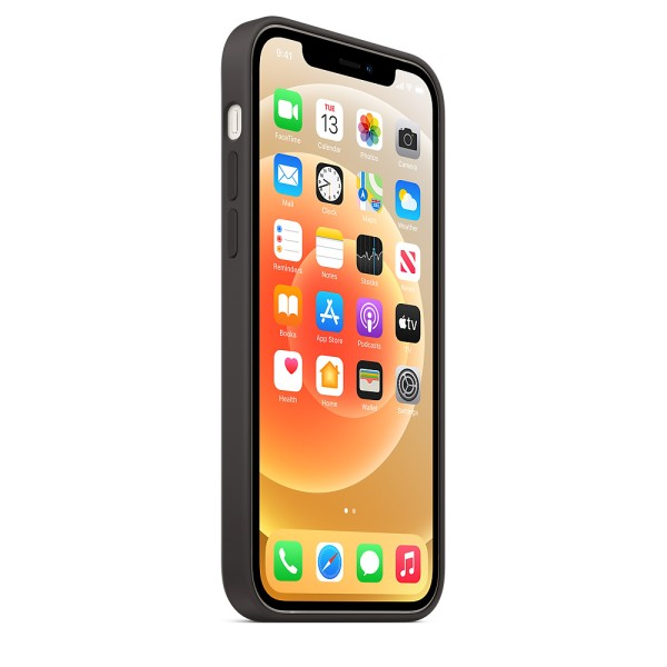 Чехол Silicone Case для iPhone 12 | 12 Pro Black without MagSafe (iS)