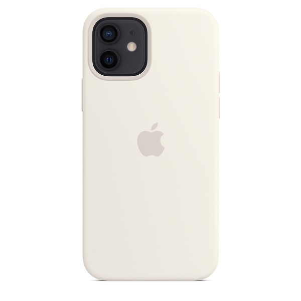 Чехол Silicone Case для iPhone 12 | 12 Pro White without MagSafe OEM
