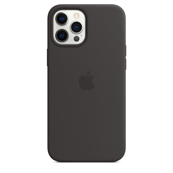 Чехол Silicone Case для iPhone 12 Pro Max Black without MagSafe (iS)