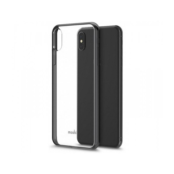Чехол Moshi Vitros Slim Clear Case Raven Black для iPhone XS Max (99MO103035)