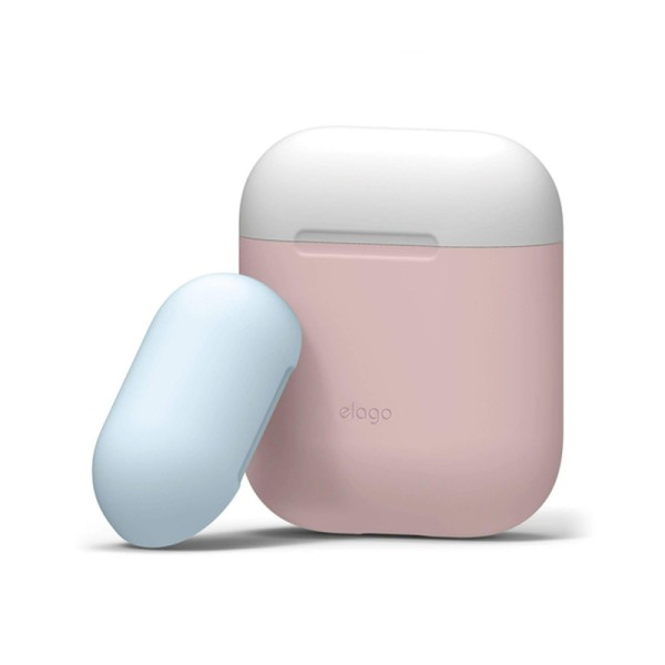 Чехол для Airpods 2/1 Elago Duo Case Pink/White/Pastel Blue for Charging Case (EAPDO-PK-WHPBL)