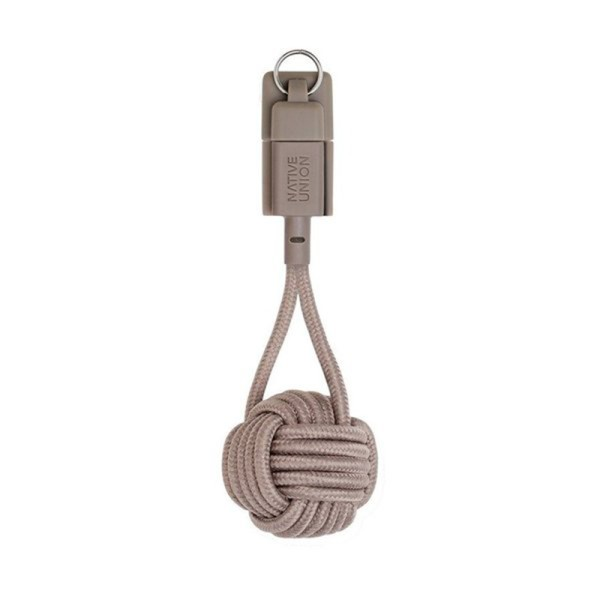 Кабель Native Union Key Cable USB-A to Lightning Taupe 0.15 m (KEY-KV-L-TAU)