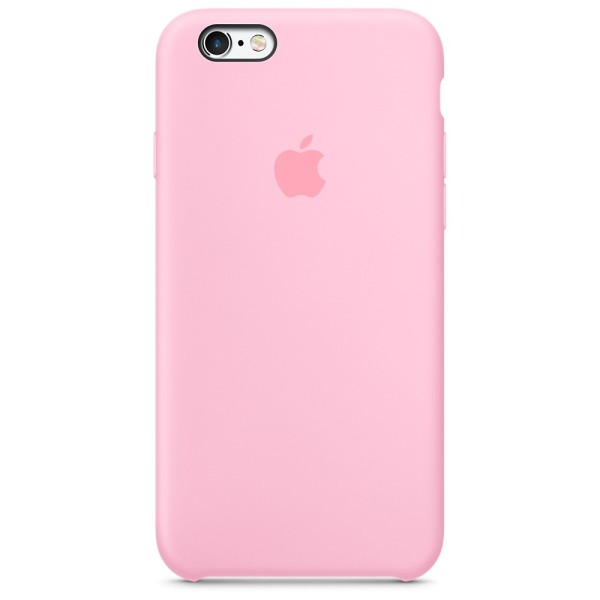 Чехол Silicone Case для iPhone 6/6s Candy Pink (iS)