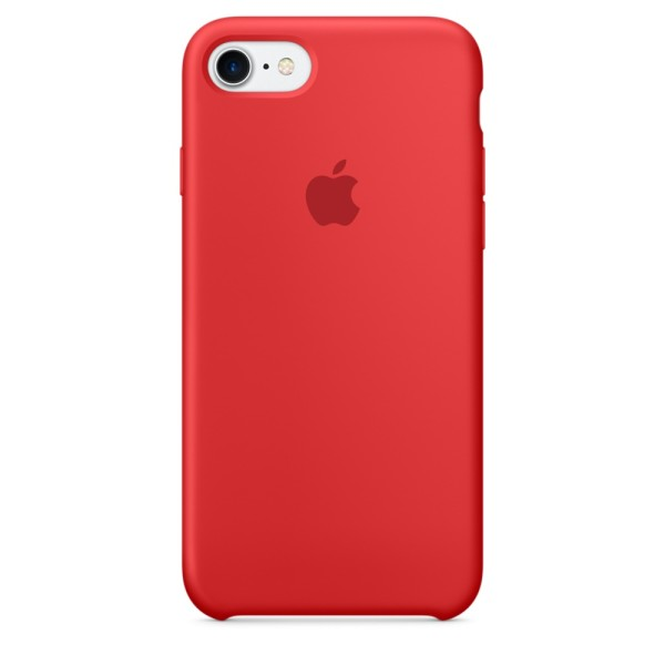 Чехол Silicone Case для iPhone SE 2020/8/7 Product (Red) (iS)